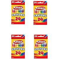 4のセットボックスPlayskool 24 Count各ボックス明るい色クレヨン