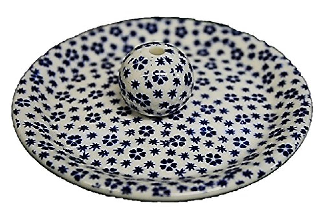 債務者シャープ払い戻し9-39 桜小紋 青 9cm香皿 お香立て お香たて 陶器 日本製 製造?直売品