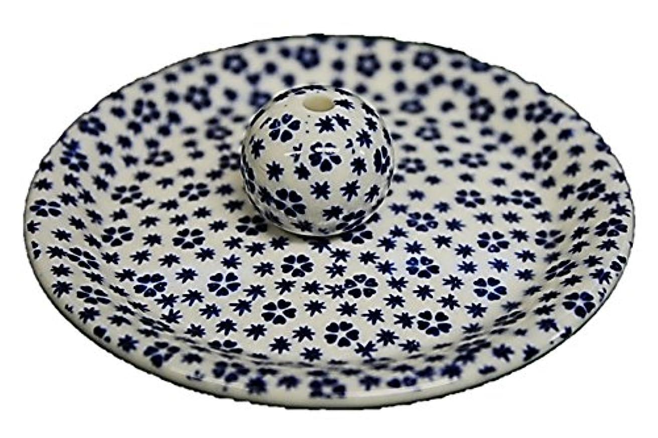 相対的花瓶ぬるい9-39 桜小紋 青 9cm香皿 お香立て お香たて 陶器 日本製 製造?直売品