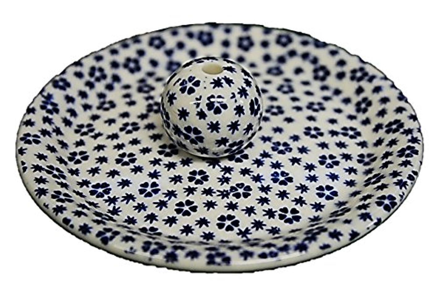 9-39 桜小紋 青 9cm香皿 お香立て お香たて 陶器 日本製 製造?直売品