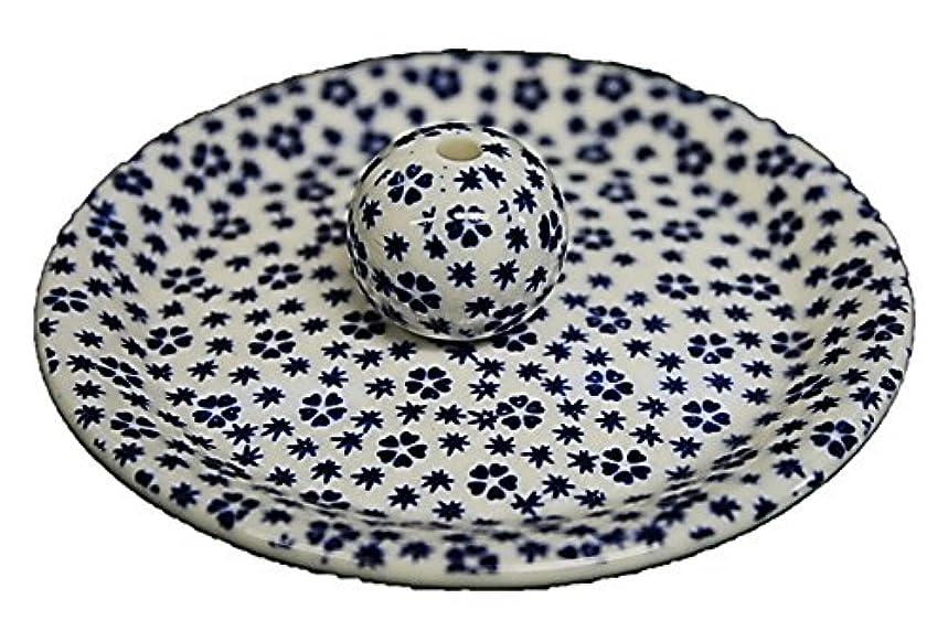 わな落とし穴エンターテインメント9-39 桜小紋 青 9cm香皿 お香立て お香たて 陶器 日本製 製造?直売品
