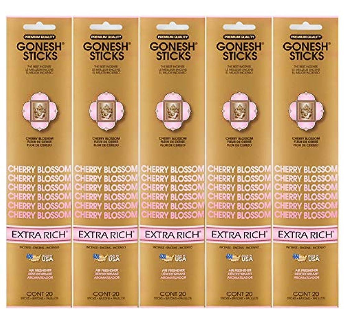 反逆航空ピカソGonesh Incense Sticks Extra Richコレクション – Cherry Blossom 5パック(合計100 )