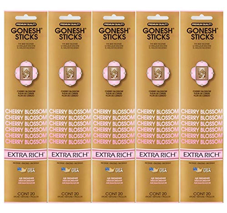 相対性理論協定談話Gonesh Incense Sticks Extra Richコレクション – Cherry Blossom 5パック(合計100 )