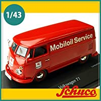Schuco(シュコー)社ミニカー 450356800 VW T1 ボックスバン Mobiloil Service レッド 1/43
