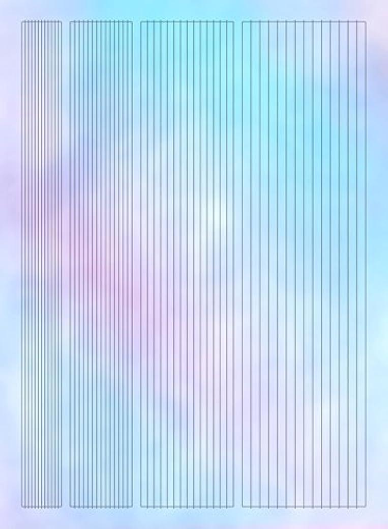 ポーク測定クール【ツメキラ】 オーロラホロ オーロラフィルムシール ライン ネイルシール