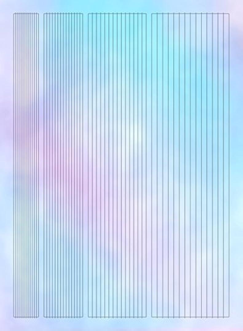 線シンジケートセグメント【ツメキラ】 オーロラホロ オーロラフィルムシール ライン ネイルシール