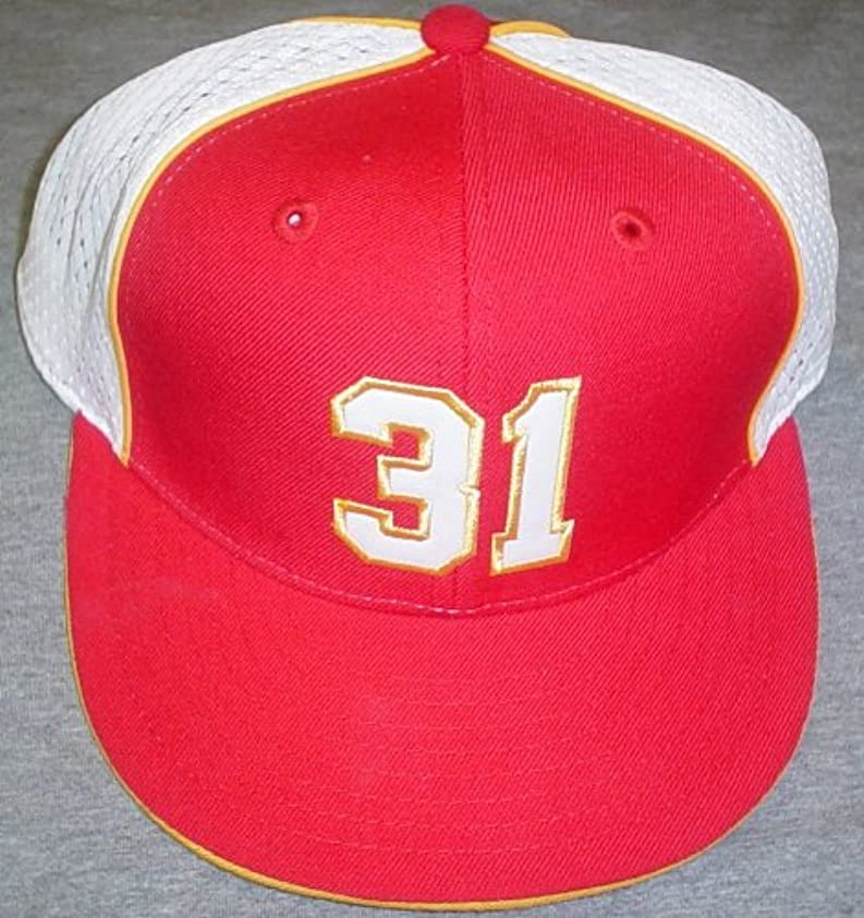 受け継ぐワゴンラックKansas City Chiefs Priest Holmes # 31選手リーボック帽子サイズ7 5 / 8