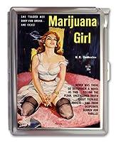 Marijuana Girl Cigarette Case Lighterまたは財布ビジネスカードホルダー
