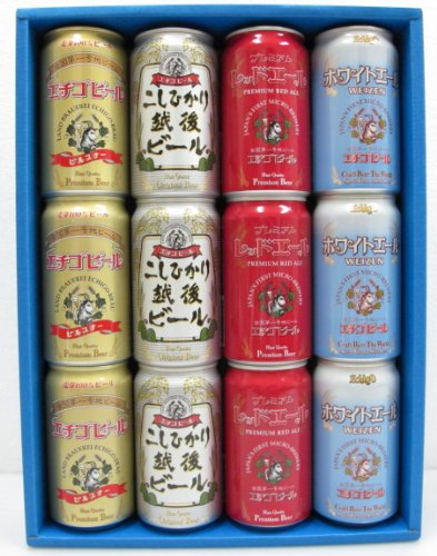 【新潟】 全国第一号地ビール エチゴビール12缶 4種飲み比べセット PKRW