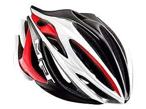 メット(MET) ストラディバリウス HES ヘルメット L(59-62cm) ホワイト/ブラック/レッド
