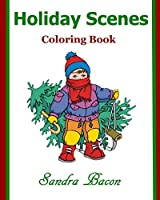 Holiday Scenes Coloring Book