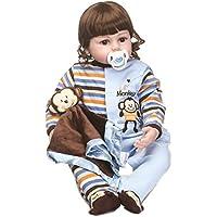 SanyDoll Rebornベビー人形ソフトSilicone 22インチ55 cm磁気Lovely Lifelike Cute Lovely Baby b0763kq25 N