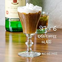Libbey 8054 180ml Georgian Irish Coffee Glass, SET OF 6 w/bonus HHS picks
