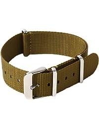 Tigre Amore 腕時計 ナイロンベルト 時計 交換 ナイロン ベルト NATO 18mm カーキ