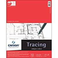 """Canson Foundation Series Tracing Paper Pad 11""""X14""""-50 Sheets (並行輸入品)"""