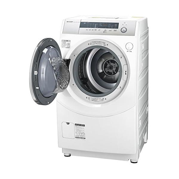 シャープ ドラム式洗濯乾燥機 10kg ホワイ...の紹介画像2