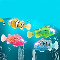 amzmonnsuta ミニ泳ぐ魚 かわいい カクレクマノミ 光る お風呂 電動魚 おもちゃ