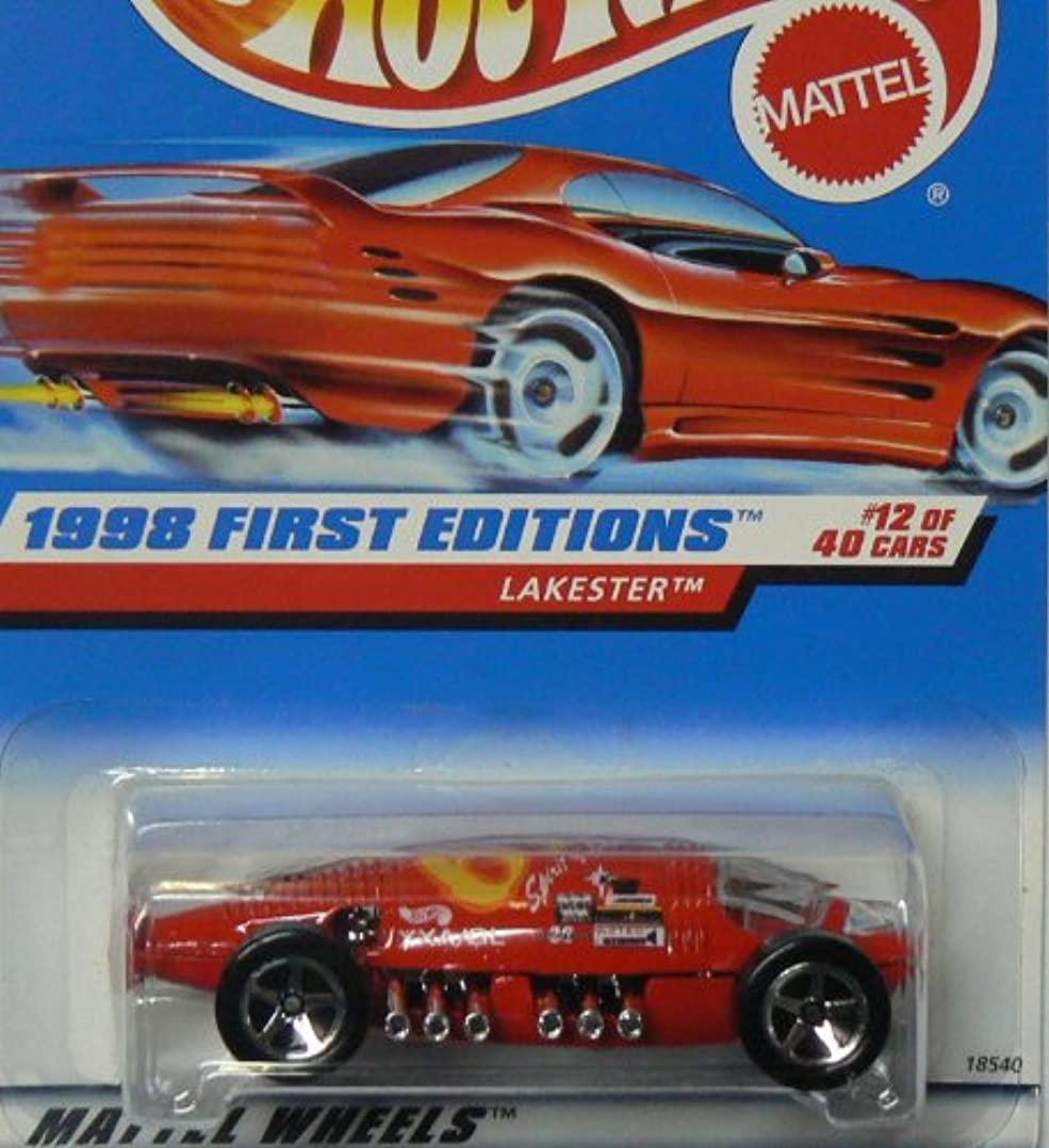 エキゾチック蚊シャツHOT WHEELS Lakester 647 1998 First Editions ON RED CARD