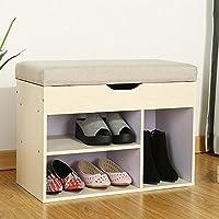 LJHA シンプルな近代玄関収納シューズスツール/衣類収納靴スツール/リビングルームソファー収納スツール/玄関フットスツール(3色展開) 保管棚 (色 : C)