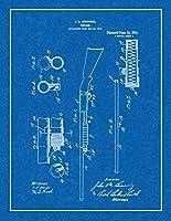 """レミントンモデル 17とイサカ 37ポンプアクションショットガン 特許印刷 ボーダーM10494 18"""" x 24"""" 10494-553-18"""