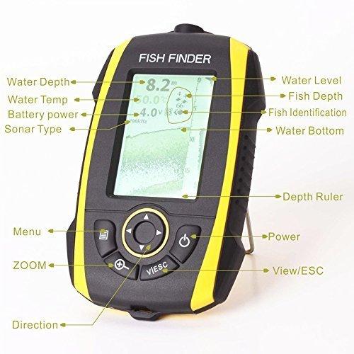 Signstek ポータブル魚群探知機 Fish Finder FF278A/屋外釣りツール、魚群検出—IP67防水--内蔵リチウム電池!日本語表示