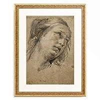 グイド・レーニ Guido Reni 「Head of a Woman Looking up to the Right.」 額装アート作品