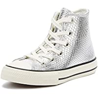 Converse Chuck Taylor All Star Youth Silver Hi Trainers