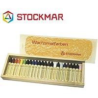 Stockmar(シュトックマー社) 蜜ろうクレヨン スティッククレヨン 24色 木箱【ST32602】