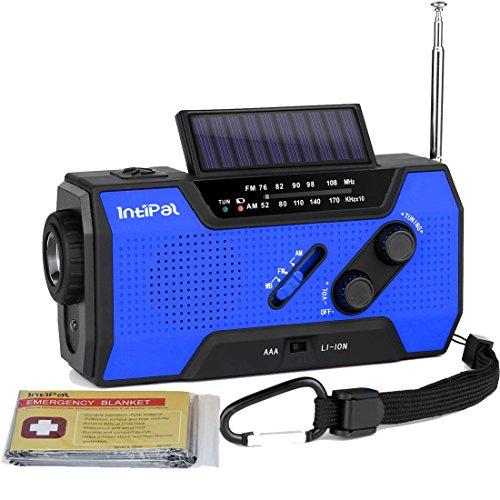 IntiPal ラジオ ライト 充電式 ...