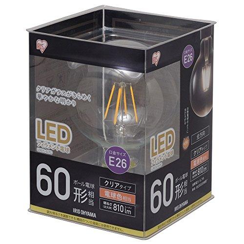 アイリスオーヤマ(IRIS OHYAMA) LEDフィラメント電球 ボール球 LDG7L-G-FC(567575) 1個