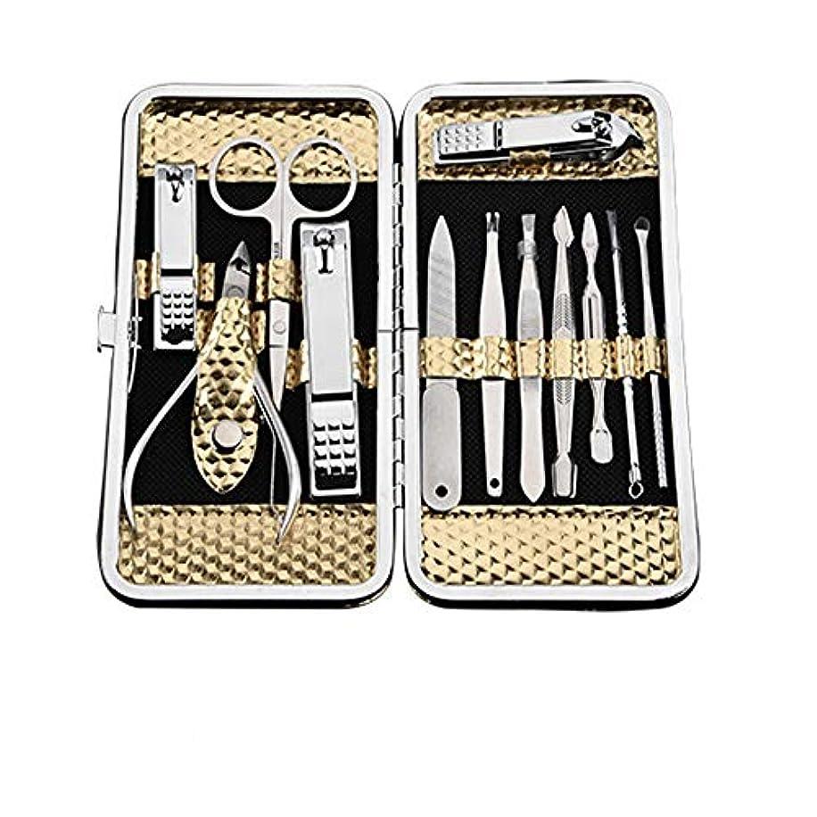 項目ラボ見て12点セット爪切り美容ツールのステンレス鋼の爪切りセット