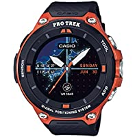 Casio Men's 'PRO TREK' Quartz Resin Outdoor Smartwatch Color Orange (Model: WSD-F20-RGBAU) [並行輸入品]