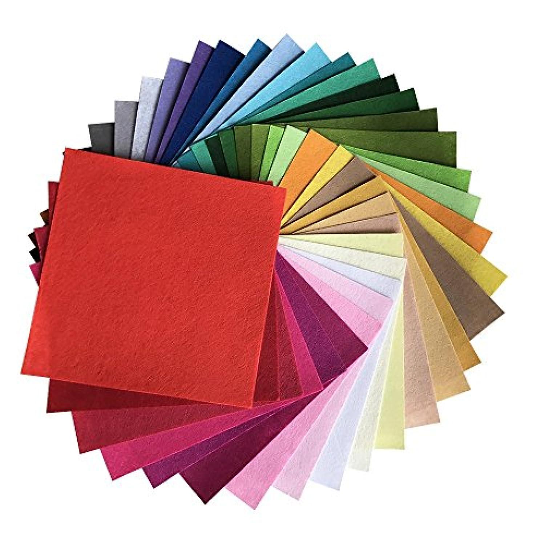 カラフル 40枚 フェルト DIY手芸用 生地 柔らかいタイプ 選べる サイズ 1 mm厚さ (30cm x 30cm)