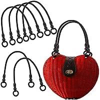 6Pcs Leather Handles Replacement for Handmade Beach Bag Handbags Straw Bag Purse Handles