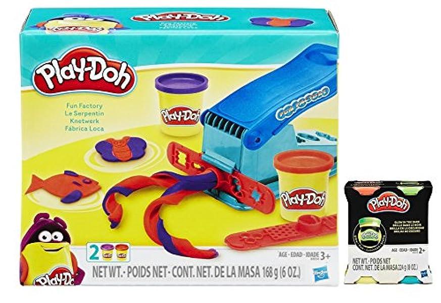 Play-Doh Fun Factory Set Bundle with Bonus Play-Doh Glow In The Dark 60ml