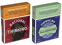 Rational Thinking and Optical Illusions Puzzles _ Coffee Table Brain Teaser Card Sets _ 50 Cards Per Deck _ Two Decks _Bundle