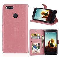 Xiaomi Mi 5X シェル PU レザー 財布 シェル フリップ キックスタンド 職能 ウルトラ フォリオ フリップ スリム カード ホルダー シェル カバー Leather iphone Cases の Xiaomi Mi 5X (Pink)