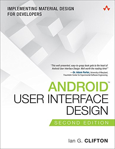 『Android User Interface Design: Implementing Material Design for Developers (Usability) (English Edition)』のトップ画像