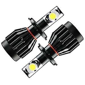 GTX ブラックナイト LEDヘッドライト H4 Hi/Lo 6000K 36W 3600LM 1年保証