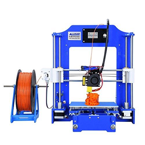 ALUNAR-M518【工場直販】DIYコンパクト 3Dプリンターキット 未組立 プリントサイズ150*150*150mm 初心者 高校生 子供プレゼント向き(ブルー)