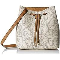 Calvin Klein Sonoma Signature Drawstring Bucket Hobo Bag