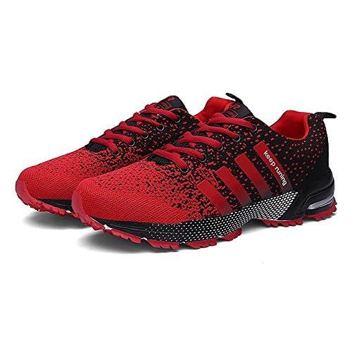 (チェリーレッド) CherryRed メンズ レディース スポーツ スニーカー トラベル ランニング 運動靴 歩きやすい 通気 43 レッド