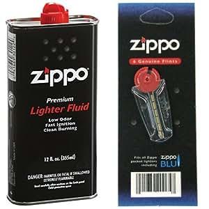【おすすめセット】 ZIPPO オイル缶 【大缶355ml】 1個 + ZIPPO オイルライター用フリント【着火石】 6石入り 3個セット 1個