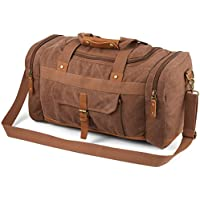Plambag Canvas Luggage Duffel Bag Travel Tote Shoulder Bag