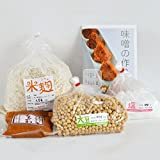 キットソン 味噌手作りセット(甘口版)4kg用 樽無し(大豆0.71kg,米麹1.56kg,塩490g)