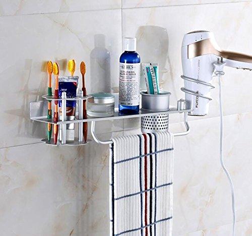 家庭の照明- 宇宙アルミ歯ブラシホルダー棚浴室トイレ収納ラッ...