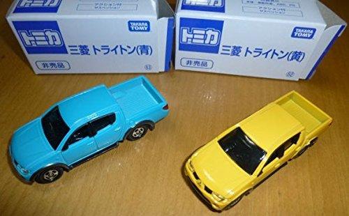 トミカ博 非売品 三菱 トライトン青 黄
