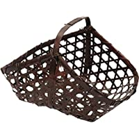 アビテ アジアン雑貨 竹製バスケット バンブー小物カゴAタイプ L HZ-001-BR