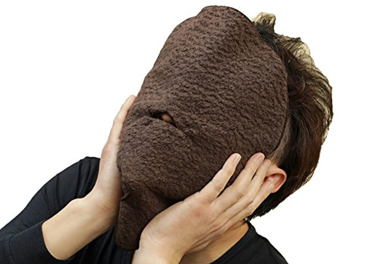 ドアダム評価今治タオルのフェイスマスク 蒸美人(じょうびじん)5分でストレス解消?タオルパック?保湿?引き締め (ブラウン)
