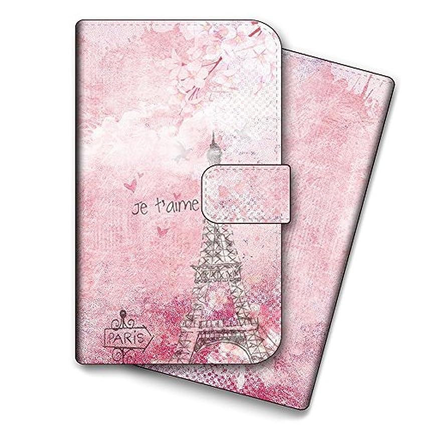 記者省添加iPhone11 エッフェル塔 パリ フランス 外国 おしゃれ 手帳型 スマホカバー スマホケース パステルピンク